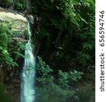 waterfall in the carpathians | Shutterstock . vector #656594746