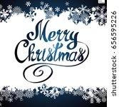 merry christmas vector... | Shutterstock .eps vector #656595226