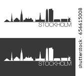 stockholm skyline silhouette... | Shutterstock .eps vector #656615008