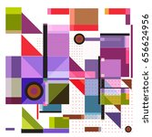 trendy geometric elements... | Shutterstock .eps vector #656624956
