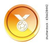 medal icon | Shutterstock .eps vector #656628442