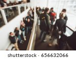 queue at the airport for... | Shutterstock . vector #656632066