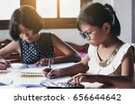 Small photo of two children business accounting financial suppose in this image