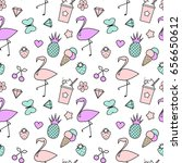 cute colorful seamless vector... | Shutterstock .eps vector #656650612