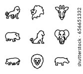 safari icons set. set of 9... | Shutterstock .eps vector #656651332
