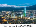 skyline of santiago de chile at ... | Shutterstock . vector #656657746