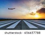 airport approach landing lights | Shutterstock . vector #656657788