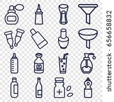 bottle icons set. set of 16... | Shutterstock .eps vector #656658832