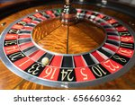american roulette wheel with a... | Shutterstock . vector #656660362
