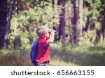 Little Boy Travel In Nature...