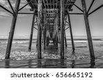 the fishing pier at oceanside ... | Shutterstock . vector #656665192