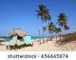 cuba   caribbean beach... | Shutterstock . vector #656665876