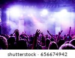 cheering crowd at a rock concert | Shutterstock . vector #656674942