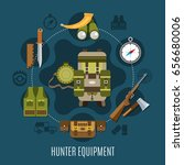 hunter equipment concept with... | Shutterstock .eps vector #656680006