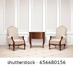 classic interior design with... | Shutterstock .eps vector #656680156