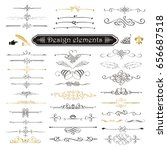 vector set of calligraphic... | Shutterstock .eps vector #656687518