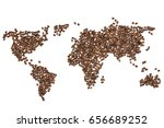 edible world map made from... | Shutterstock . vector #656689252