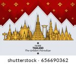thailand travel concept  lai... | Shutterstock .eps vector #656690362