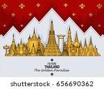 thailand travel concept  lai...   Shutterstock .eps vector #656690362