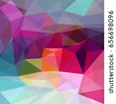 abstract background polygon... | Shutterstock .eps vector #656698096