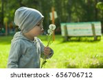 cute little toddler boy playing ... | Shutterstock . vector #656706712