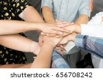 team work concept. business... | Shutterstock . vector #656708242