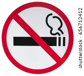 sign prohibiting smoking  | Shutterstock . vector #656712412