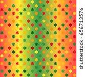 glowing flower pattern.... | Shutterstock .eps vector #656713576