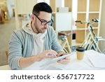 business analyst with touchpad... | Shutterstock . vector #656717722