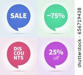 vector illustration. discount... | Shutterstock .eps vector #656719438