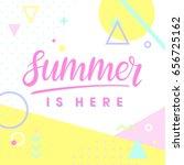 summer poster.hand drawn... | Shutterstock .eps vector #656725162