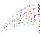 stream of hearing icons. vector ... | Shutterstock .eps vector #656730805