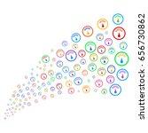fountain of gauge icons. vector ... | Shutterstock .eps vector #656730862