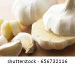 garlic bulbs and cut in half