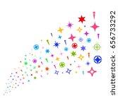 stream of confetti stars icons. ... | Shutterstock .eps vector #656733292
