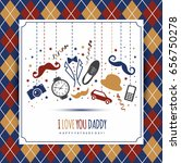 happy fathers day banners set. | Shutterstock .eps vector #656750278