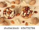 mix almonds  cashew nuts ... | Shutterstock . vector #656752786