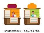 shop  store  counter  shopping...   Shutterstock .eps vector #656761756