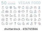 set line icons in flat design... | Shutterstock . vector #656765866