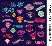 varsity old school patch ...   Shutterstock .eps vector #656782636