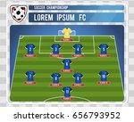 football or soccer starting... | Shutterstock .eps vector #656793952