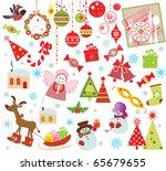 xmas set | Shutterstock .eps vector #65679655