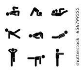exercises body workout... | Shutterstock . vector #656799232