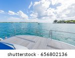 view from luxury yacht in... | Shutterstock . vector #656802136
