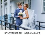 a loving couple of newlyweds... | Shutterstock . vector #656803195