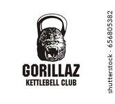 kettlebell club logo  gorilla ... | Shutterstock .eps vector #656805382