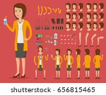 creation set of beautiful young ...   Shutterstock .eps vector #656815465