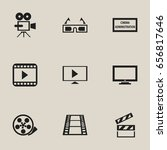 set of 9 editable filming icons.... | Shutterstock .eps vector #656817646