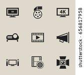 set of 9 editable movie icons....