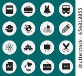 set of 16 editable education... | Shutterstock .eps vector #656818855